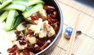 Poulet aux piments du Sichuan
