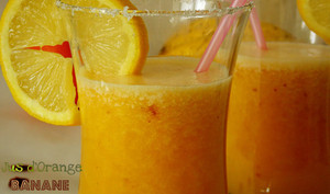 Jus d'orange et banane