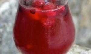 Cocktail rosé - fruits rouges