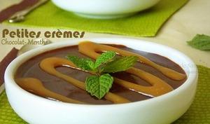 crèmes au chocolat et menthe