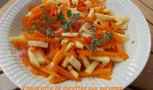 Vinaigrette de carottes aux agrumes