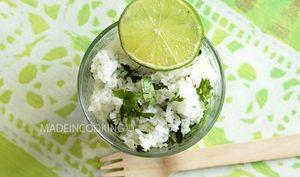 Riz à la coriandre et au citron vert