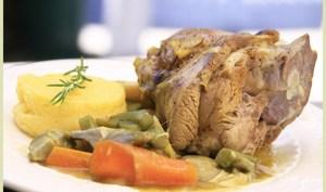 Souris d'agneau de sisteron aux épices et sa polenta