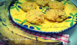 Galettes de polenta à la banane plantin