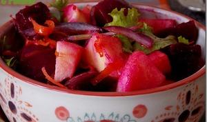 Salade de betteraves et pomme au curry
