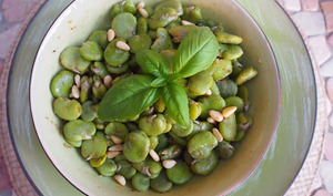 Salade de fèves au cumin