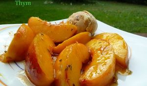 Nectarine Rôties au Thym