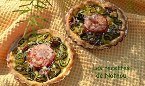Tartelettes à la courgette, tomate et anchois