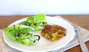 Galettes de brocolis et carottes râpées au thym façon pancakes
