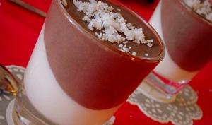Panna cotta au lait de coco et cacao / spécial diabétique