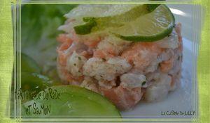 Tartare de dorade et saumon