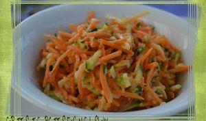 Carottes et courgettes façon coleslaw