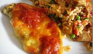 Escalope de poulet au pesto et mozzarella