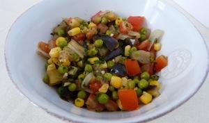 Poêlée de légumes aux petits pois