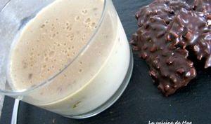 Crème dessert chocolat au lait au praliné