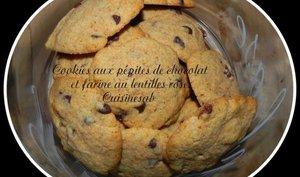 cookies aux pépites de chocolat et à la farine de lentilles roses