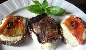 Minis sandwichs aux aubergines et poivrons