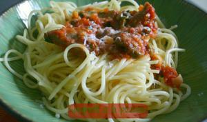 Spaghetti à la pizzaiola