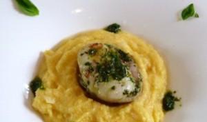 Râbles de lapin au pistou et polenta