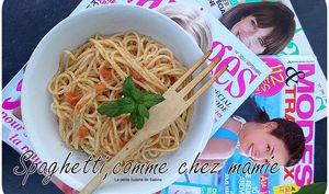 Spaghetti anchois et sauce tomate
