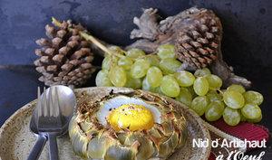 Nid d'artichaut camus à l'œuf pour Prince de Bretagne