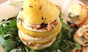 Poire au gorgonzola et au miel