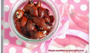 Amandes aux cranberries, épices et fleur de sel