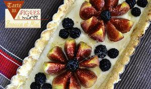 Tarte aux figues et mûres à la brousse au miel bio