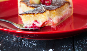 Tarte Pêche/Groseille et Crème d'Amande