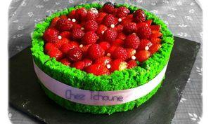 Charlotte pistache et fruits rouges