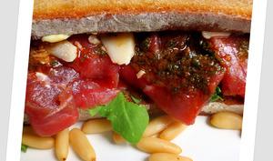 Sandwich Carpaccio Bœuf-Roquette