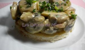 Toast aux champignons