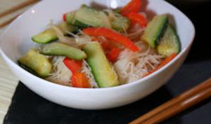 Vermicelles de Riz sautés aux Légumes