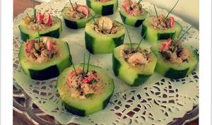 Rondelles de concombre à la sardine