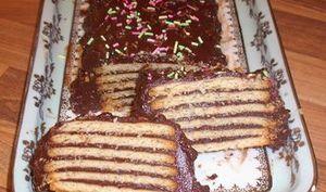 Gâteau biscuits brun au chocolat