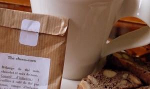Cantucci ou croquets aux amandes et cacao