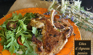 Agneau ou veau en côtes panées au parmesan et herbes à la plancha