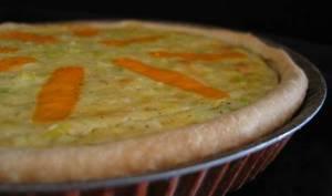 Tarte aux poireaux et à la mimolette