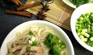 Bouillon pho comme au Vietnam