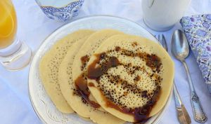 Beghrirs sauce cassonade/chicorée