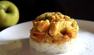 Poulet aux pommes & au curry
