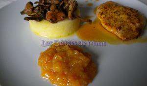 Filet de dinde aux clémentines et fricassée de champignons des bois