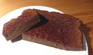 Fondant chocolat compote sans beurre