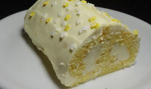 Bûche aux deux citrons façon cheesecake