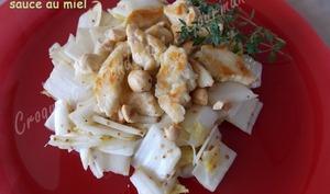 Salade d'endives, sauce au miel