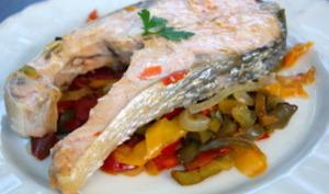 Darnes de saumon aux poivrons