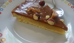 Tarte caramel ,amandes et fruits secs