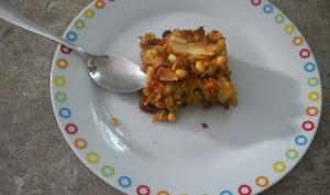 Carrés croustillants au toffee, aux pommes et au muesli
