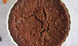 Fondant au chocolat, gruè de cacao et fleur de sel