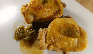 Poulet poivron et huile au citron